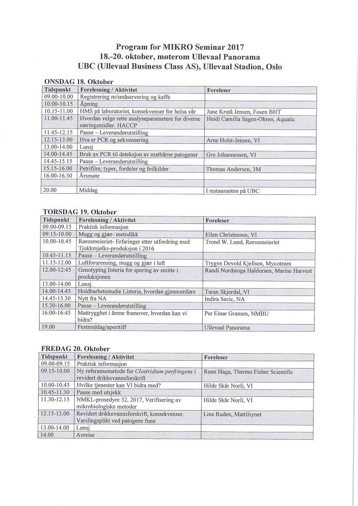 Seminarprogram 2017